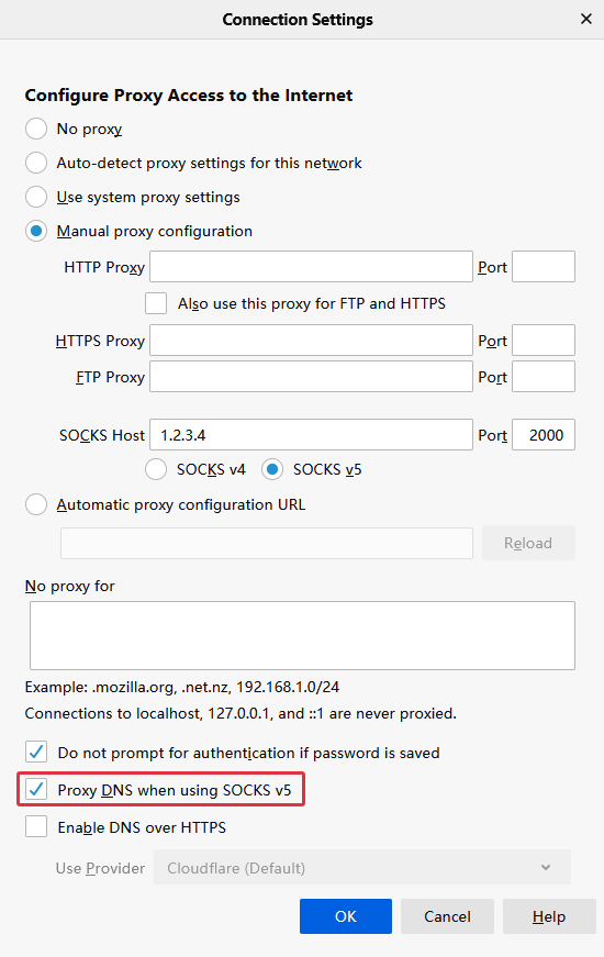 Firefox Remote DNS