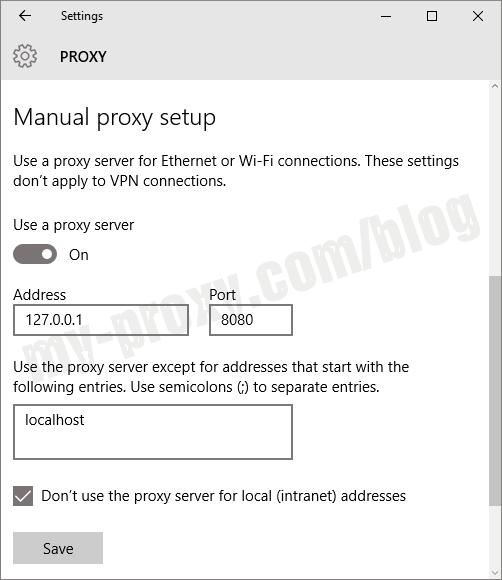 System Proxy Settings