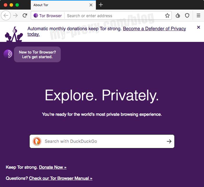 Tor Browser on Mac