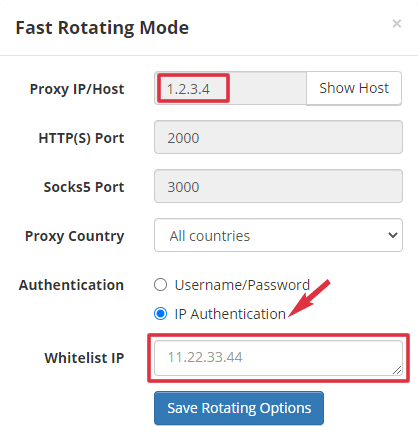 Rotating Proxy Authentication